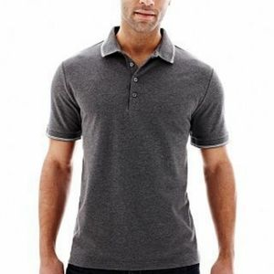 Claiborne Charcoal Tipped Pique Polo XL T-shirt